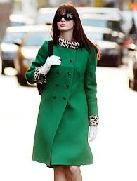 Green Military Coat with White Gloves