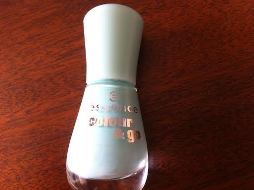 light blue nails